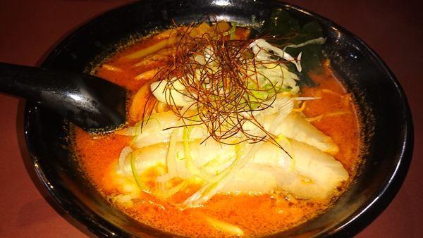 「鉄火麺 辛目」@北海道らーめん ひむろ 亀戸店の写真