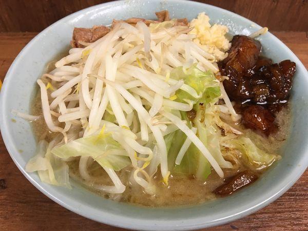 「ラーメン 麺硬め ニンニク アブラ」@ラーメン二郎 池袋東口店の写真
