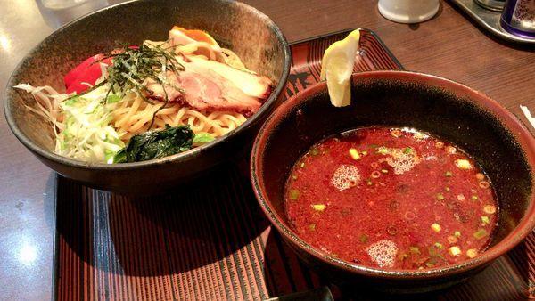 「辛旨つけ麺」@らうめん 纏の写真