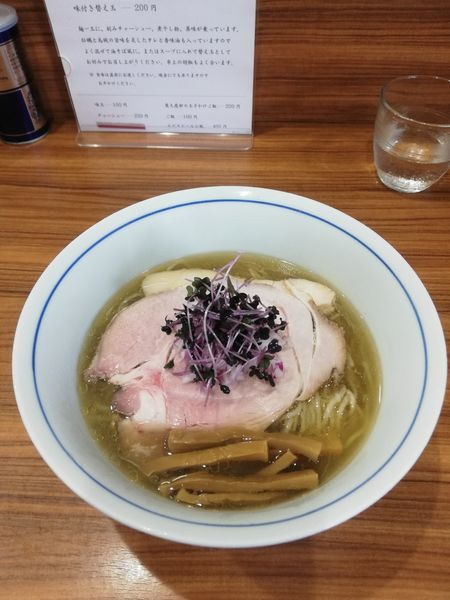 「氷見煮干しとハマグリ煮干しの冷やしそば 880円」@中華そば 西川の写真