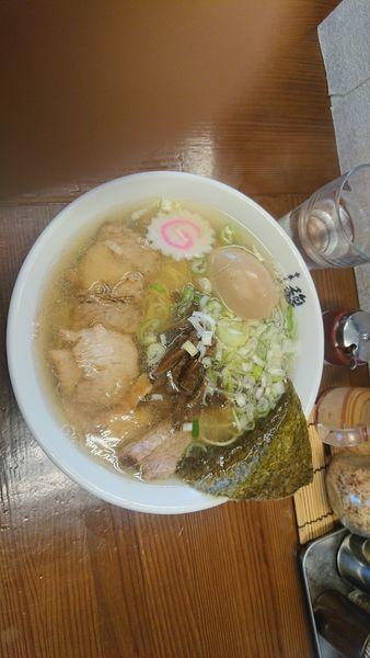 「中華そば+味玉(ランチサービス)」@中華そば 馥の写真