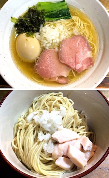 「煮干しラーメンジョン(味玉サービス).和え玉」@ラーメン屋ジョンの写真