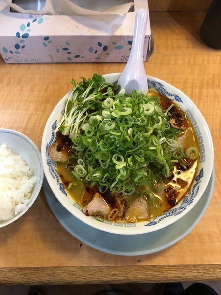 「担々麺 ねぎ多目」@ラーメン藤 金沢店の写真