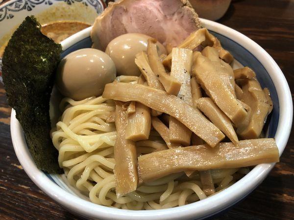 「カレーつけめん+味玉×2+メンマ」@とうかんやの写真
