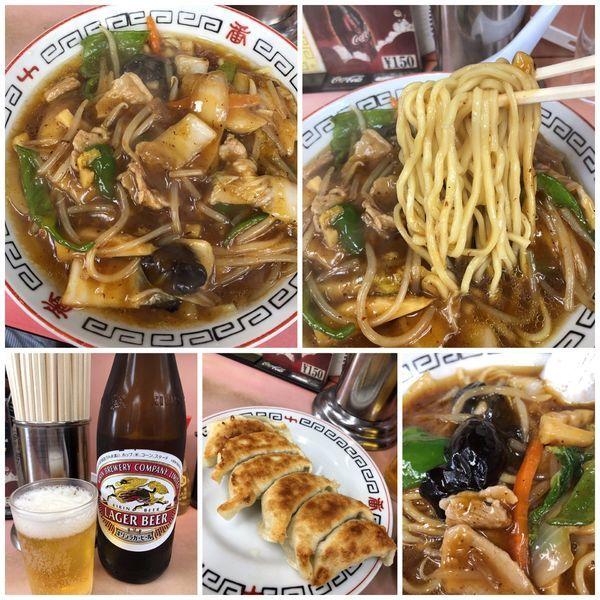 「サーティーメン820円+ビール+餃子」@十番の写真