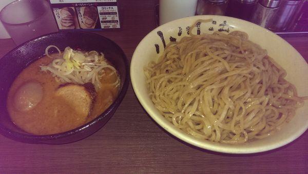 「味噌つけ麺、特盛、味卵(クーポン)」@つけ麺 小川流 多摩貝取店の写真