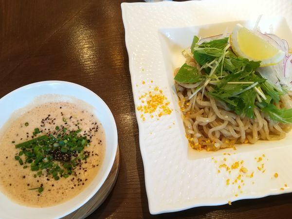 「冷製つけ麺 オマール海老湯」@麺屋はやぶさ 大須店の写真