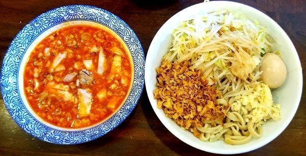 「辛いつけ麺300g」@龍麺 ふえ郎の写真