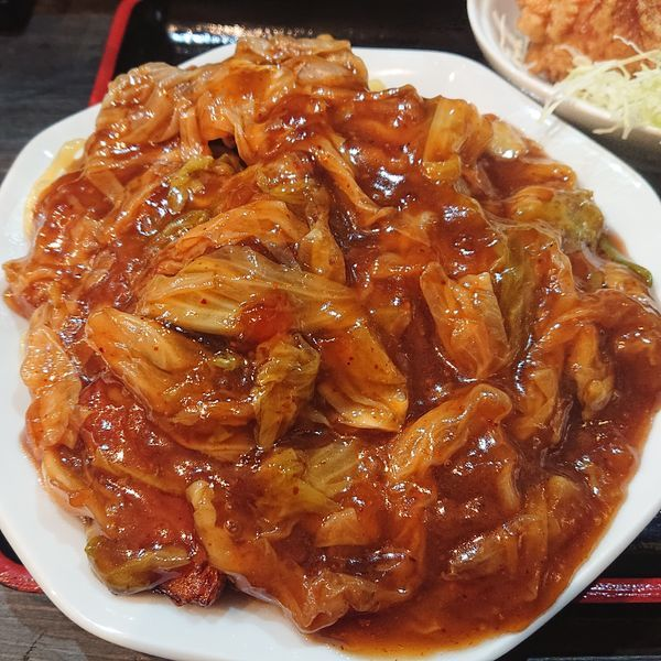 「スタミナ冷やし普通730円Aセット380円他」@麺や 赤龍の写真