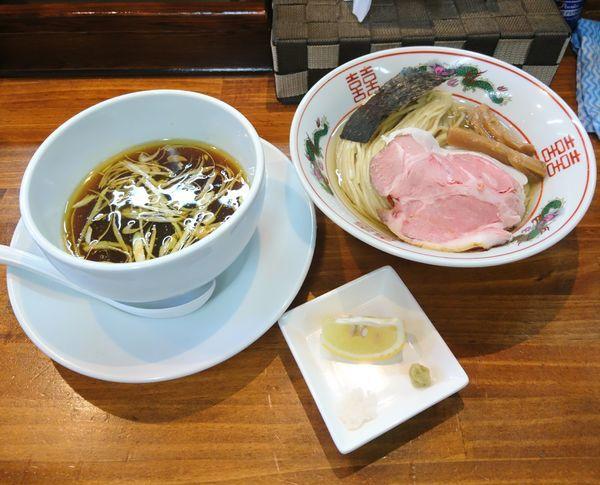 「昆布水のつけ麺 醤油 大盛」@塩らーめん 千茶屋の写真