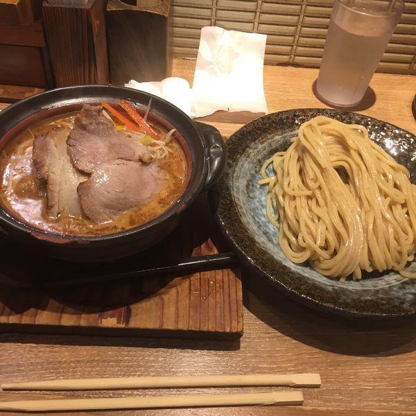 「土鍋味噌つけ麺   おじやセット」@味噌が一番 中野サンモール店の写真