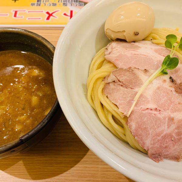 「特製濃厚豚骨魚介つけ麺大盛り」@麺処 景虎 新越谷ヴァリエ店の写真