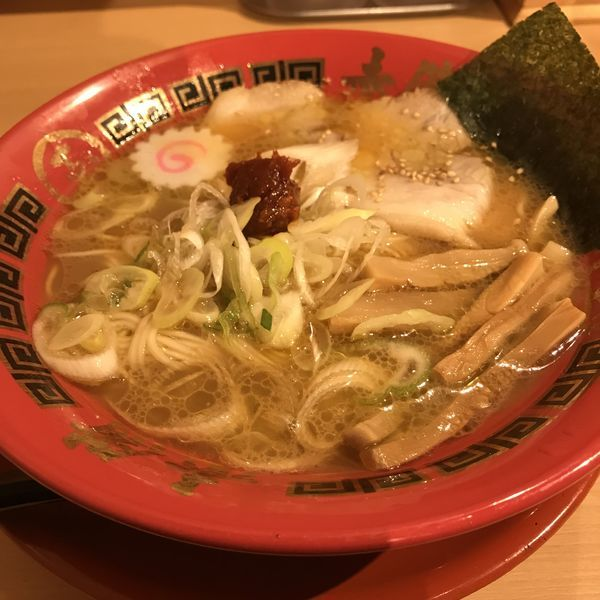 「濃厚豚鶏らーめん(¥850)」@ラーメン玉 赤備 アクアシティーお台場店の写真