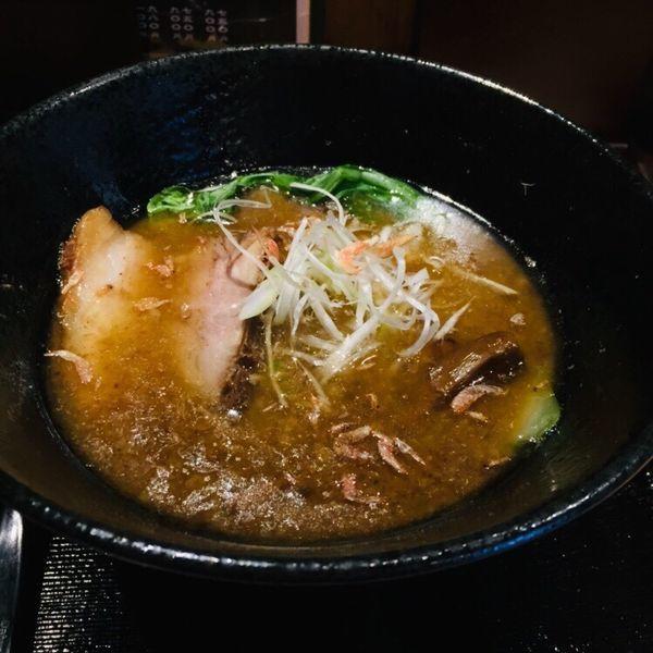 「魚介らぁめん 半麺 750」@麺屋 いし川の写真