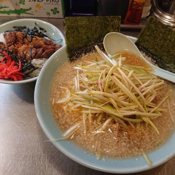 「ネギラーメン690円、純レバ丼350円」@ラーメンショップ 椿 玉造店の写真