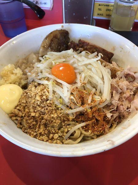 「まぜそば(豚2枚)+マヨ+とろ豚」@麺屋 桐龍の写真
