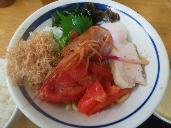 「海老&明太子和え蕎麦 B +タルタルソース」@MENYA 食い味の道有楽の写真