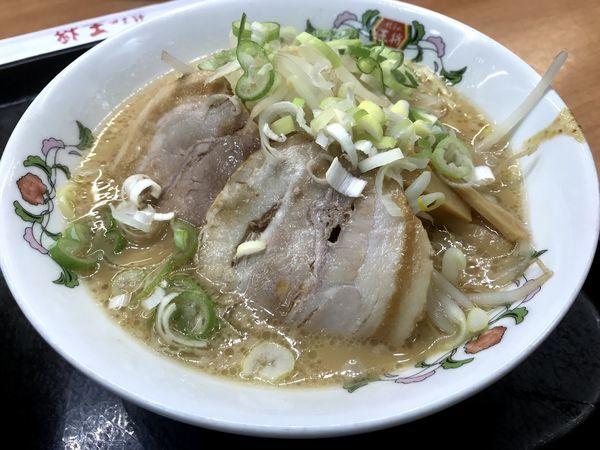 「餃子の王将ラーメン(醤油豚骨)」@餃子の王将 新橋駅前店の写真