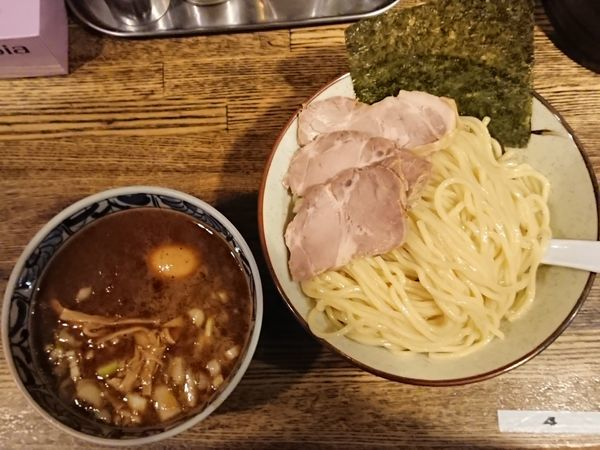 「特製濃厚鶏つけ麺」@新橋 纏の写真
