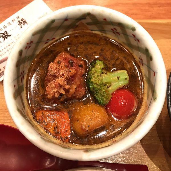 「札幌新名物!具沢山スープカレー」@札幌銀鱗 ラゾーナ川崎店の写真