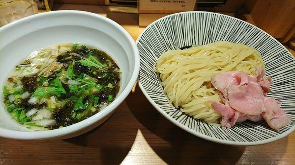 「塩つけ麺(並)」@焼きあご塩らー麺 たかはし 上野店の写真