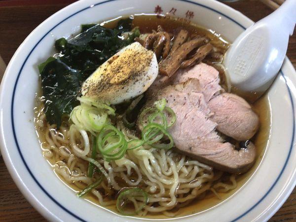 「冷やしラーメン550円」@寿々保食堂の写真