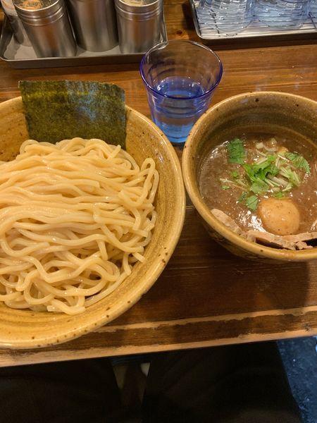 「ベジポタ肉増し味玉つけ麺大盛」@ベジポタつけ麺 えん寺の写真