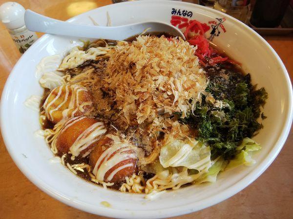 「【限定】タコメン (麺大盛り)」@テンホウ 松本渚店の写真