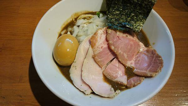 「特性濃厚蕎麦 + 和え玉」@亀戸煮干中華蕎麦 つきひの写真