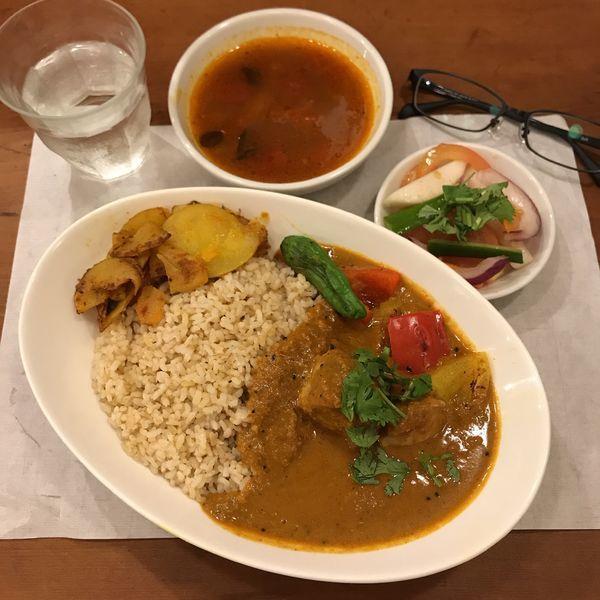 「鮪のフィッシュヘッドカリー」@築地スパイス食堂 かぶとの写真