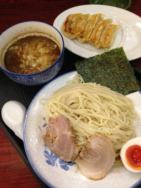 「つけ麺 大盛880円 餃子5個300円」@麺や ふくろうの写真