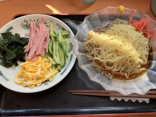 「黒酢醤油冷やし麺 530円」@日高屋 小手指北口店の写真