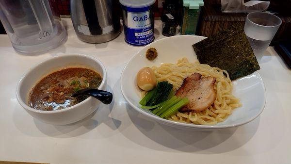 「海老つけ麺 味玉」@海老・特濃煮干そば まるはの写真