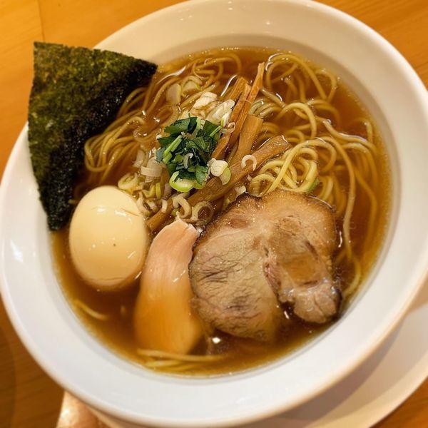「平子煮干そば 味玉」@新橋 纏 京王高幡SC店の写真