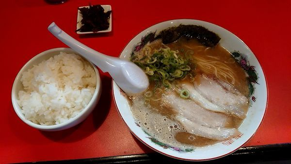 「ラーメン+餃子+白飯セット」@ひろちゃんラーメンの写真