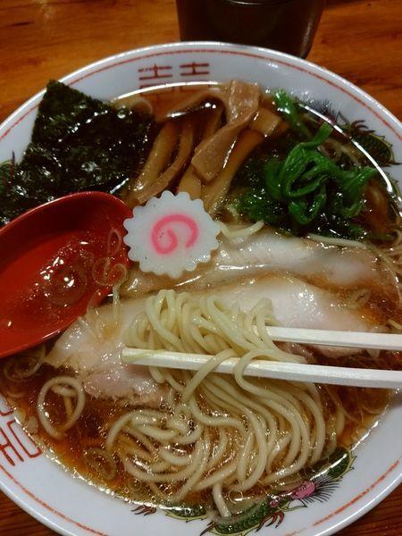 「醤油ラーメン」@水戸中華そば むじゃき食堂の写真