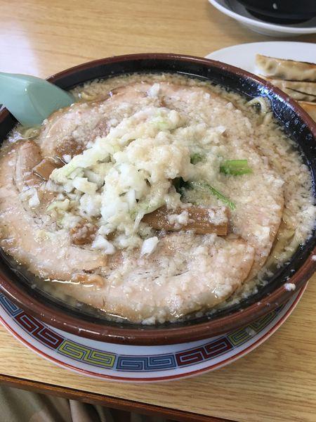 「チャーシュー麺背脂増し」@大むら食堂の写真