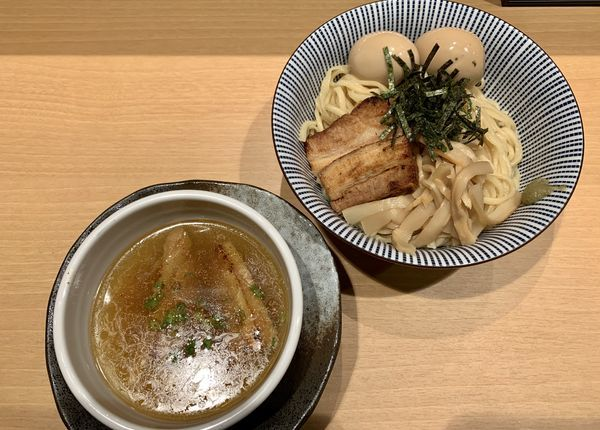 「特製淡麗塩つけ麺」@塩つけ麺 灯花の写真