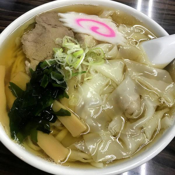 「ワンタンメン 650円」@手打ちラーメン 足利麺の写真
