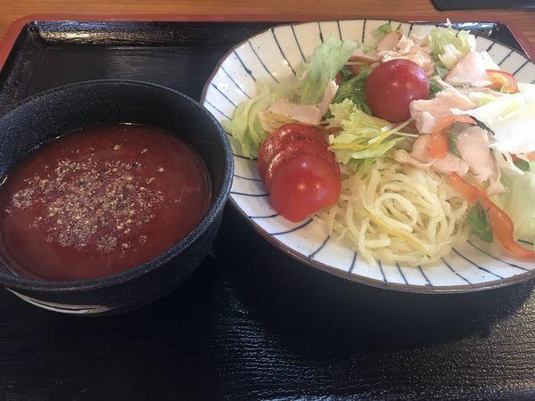 「限定 トマトのつけ麺 1.5玉 1,000円」@手打ち中華そば 和屋の写真