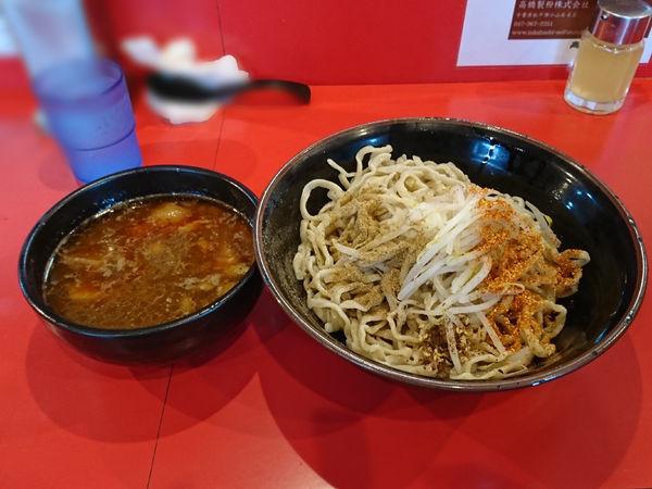 「辛いつけ麺(野菜少なめ、魚紛、七味、しびれ)」@麺屋 桐龍の写真