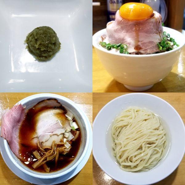 「昆布水つけ麺(大盛)」@自家製中華そば 麺の虜の写真