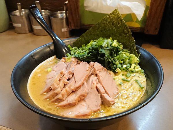 「太麺 肉三点盛り」@誠屋 大森山王店の写真