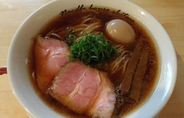 「醤油、煮卵」@麺庵ちとせの写真