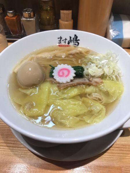 「ワンタン中華蕎麦+煮卵」@中華蕎麦 ます嶋の写真