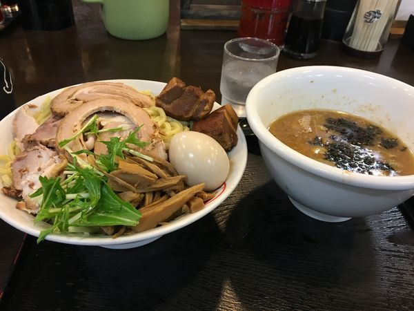 「大つけ麺の熱盛り」@豪快の写真