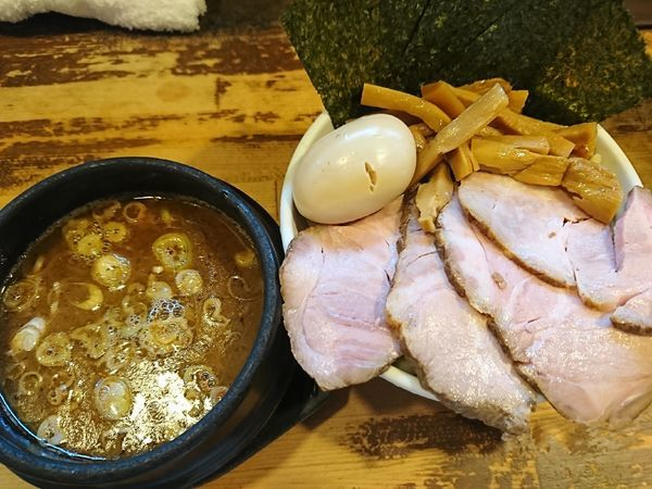 「つけ麺(小)+全部のせ(1170円)」@兎に角 松戸店の写真