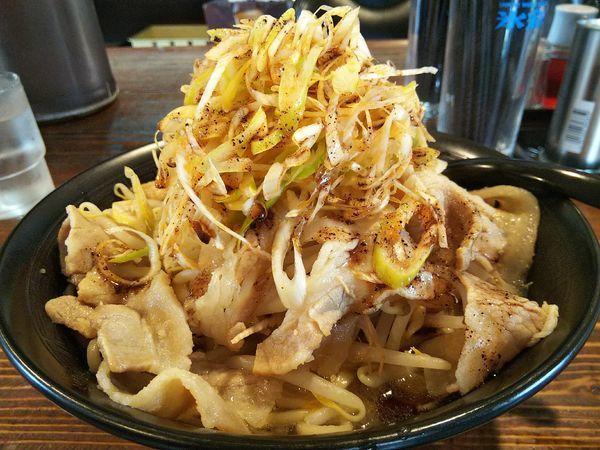 「ネギすた麺 (麺大盛り:金曜サービス80円⇒40円)」@麺屋さくらの写真
