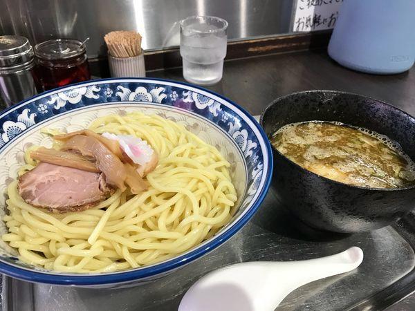 「つけ麺(太麺) 850円 大盛り 100円 味玉サービス券」@煮干らー麺 カネショウ 四街道の写真