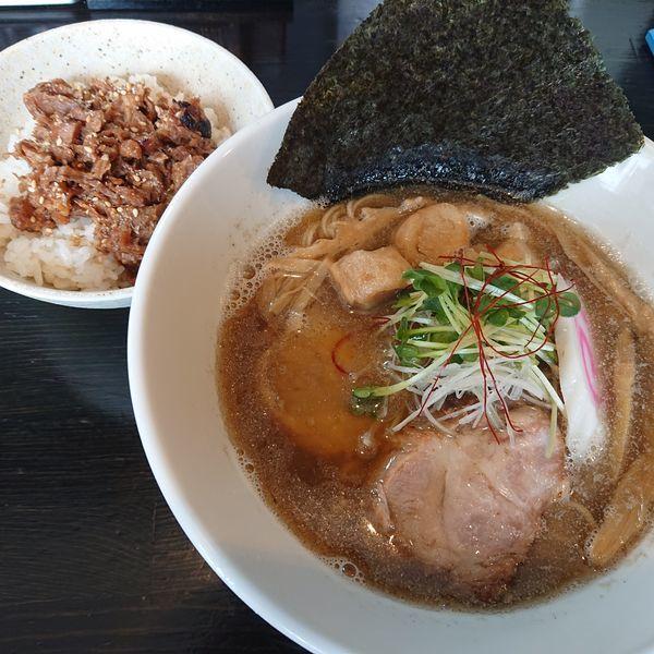 「きびなごら~めん850円、肉食丼200円」@麺や 笑 ~Sho~の写真